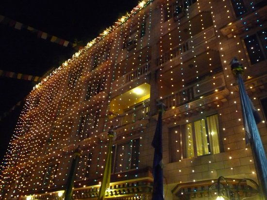 Hotel Tibet: Lots of lights during Diwali