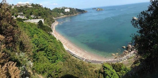 The Osborne Hotel: Meadfoot beach and The Osborne