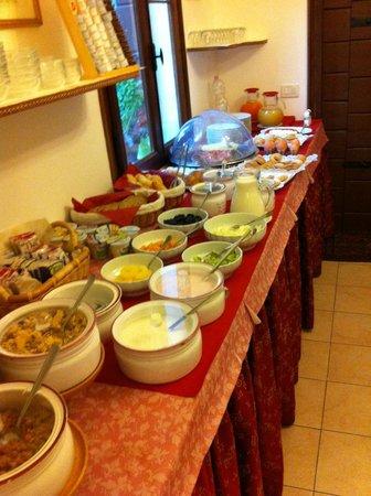 Villa Casanova: breakfast layout