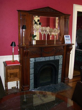 Pearls of Newport: One of the public area fireplaces