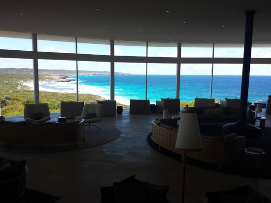 Southern Ocean Lodge: view from lobby