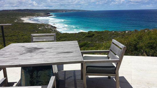Southern Ocean Lodge: view from dining terrace