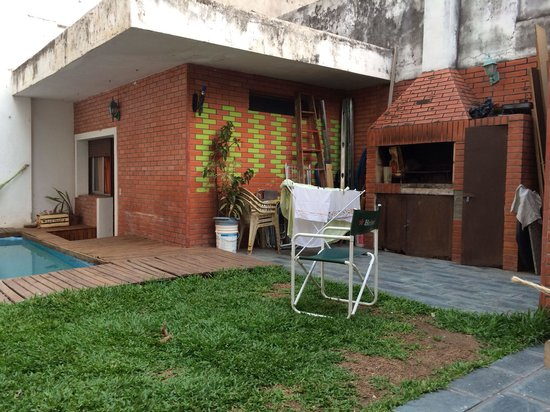 Happy Happy Hostel: Private accommodation and BBQ area.