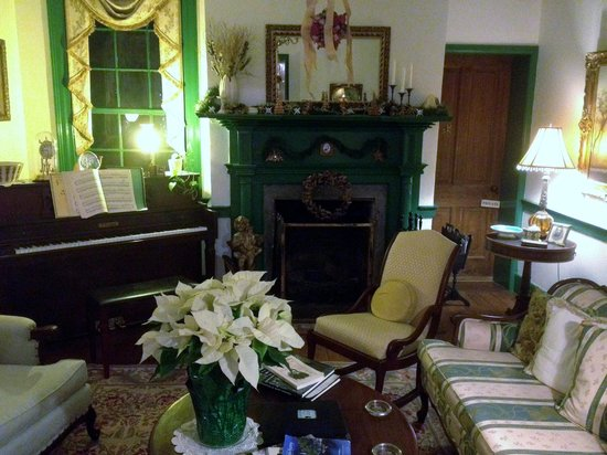 The Jackson Rose B & B: Shared living room (gas fireplace)