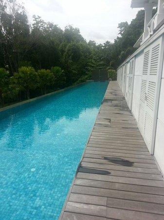 Amara Sanctuary Resort Sentosa: Larkhill terrace suite. The private pool.