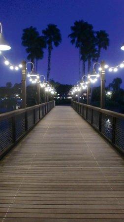 Disney's Coronado Springs Resort: Grounds at night