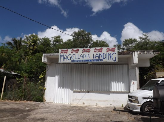 """Magellan Monument: Appropritely named, this used to be a """"watering hole"""" on Umatac area."""