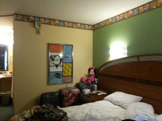 Disney's All-Star Movies Resort: Vista do quarto
