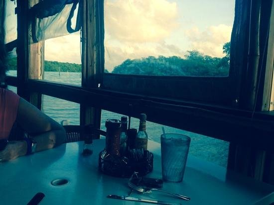 Island Grill : water view facing east.  West view is the parking lot