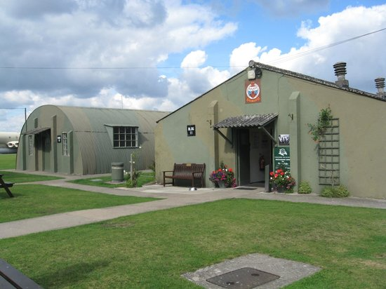 Yorkshire Air Museum : Outside of NAAFI, with picnic tables around