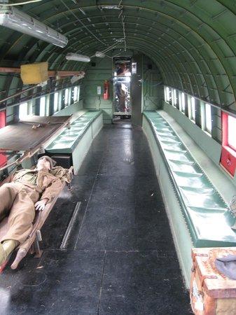 Yorkshire Air Museum: Inside Dakota transporter plane