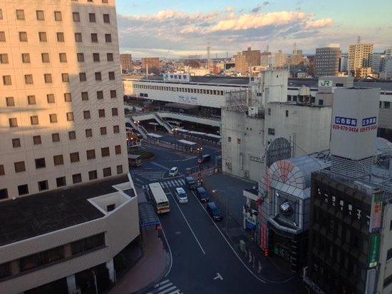 Richmond Hotel Utsunomiya Ekimae: ホテルから見える宇都宮駅