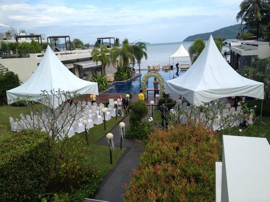 Serenity Resort & Residences Phuket: View from our suite-wedding set-up