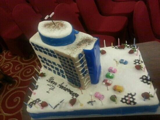 1st Anniversary cake Picture of Aston Makassar Hotel Convention