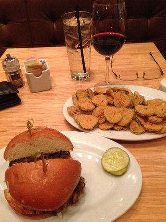 Zinburger: Kobe-Style Burger with Fried Pickles