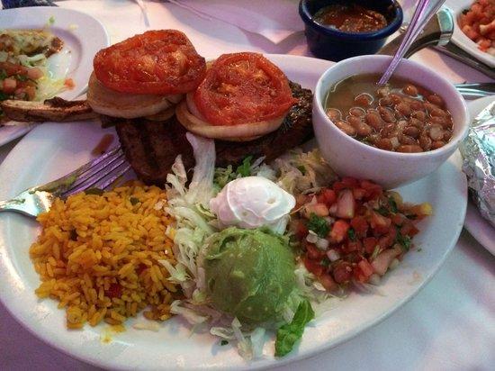 Miguel's Mexican Restaurant : Carne Asada.. Bone in rib eye