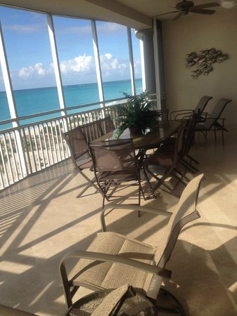 The Venetian on Grace Bay: Large balcony right on beach 401