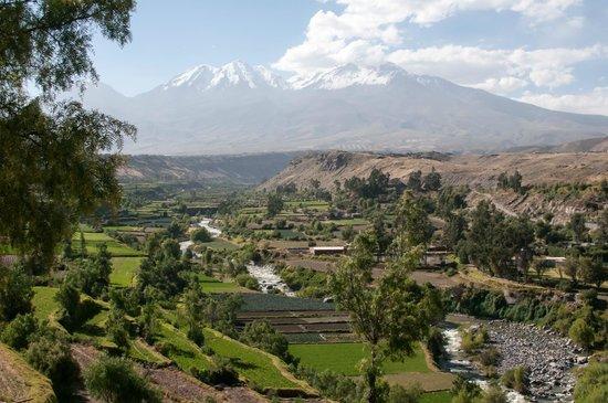 Escaped to Latin America: Arequipa with Misti Volcano in background
