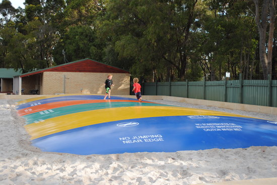 Margaret River Tourist Park: Jumping pillow for the kids!