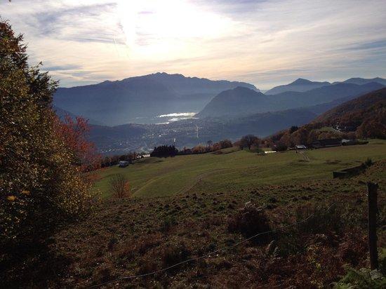 Guesthouse Arosio B&B: Arosio, vista su Lugano e Monte S.Salvatore