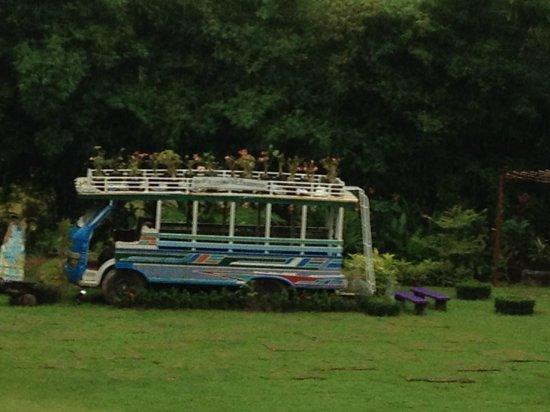 The Elements Krabi Resort: Old bus kept in Ground