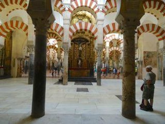Mezquita Cathedral de Cordoba: Never ending arches and marble pillars