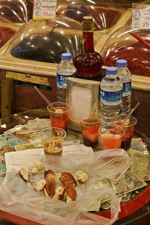 Culinary Backstreets -Tours: Pickles and the absolutely delicious tahini and molasses