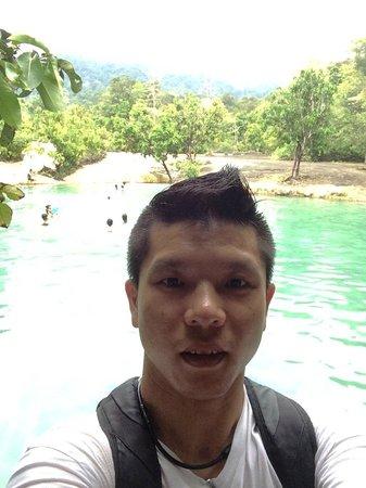Emerald Pool (Sa Morakot): Selfie at the emerald pool