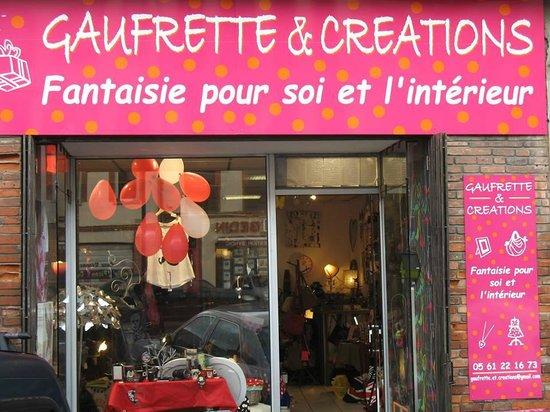 Gaufrette et creations: Vitrine