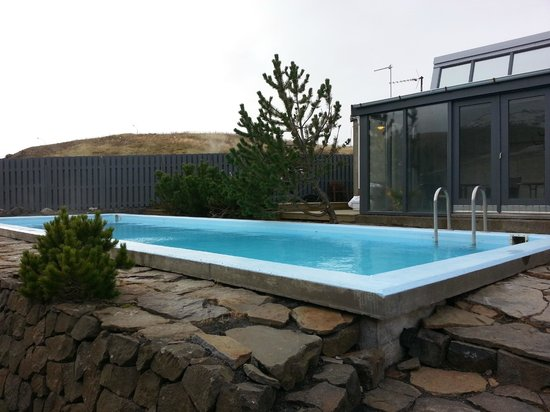 Frost and Fire Hotel: the big heated pool