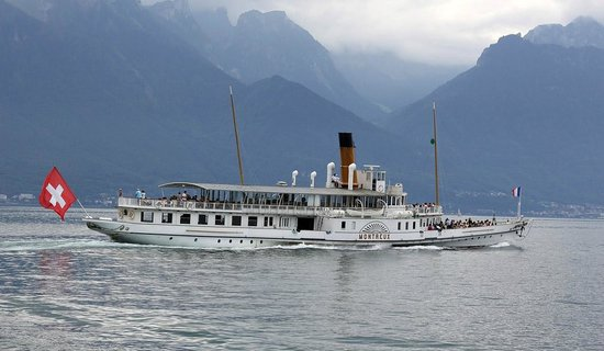 Lac Leman : Винтажный пароход на Лемане