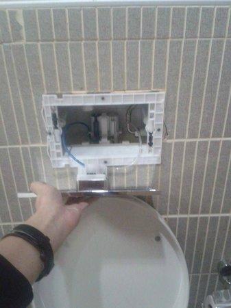 Suite Laguna Apart Hotel : Broken toilet