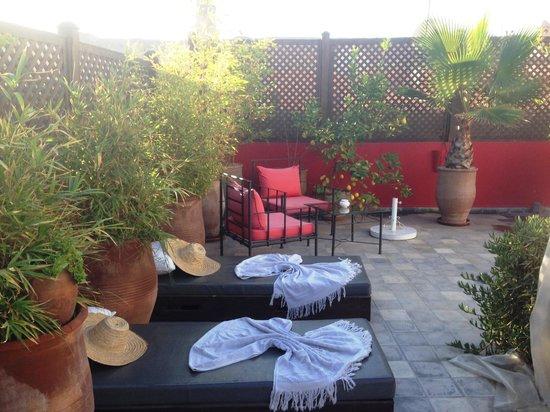 Riad Badi : Terrasse