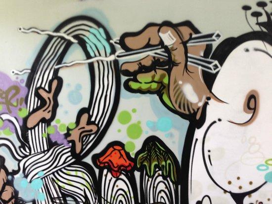 Ru Restaurant: Graffiti at RU