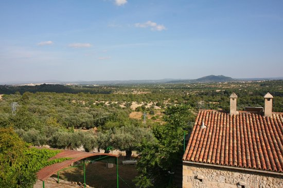 """Finca Es Castell: View from suite """"Sa Claestra"""""""