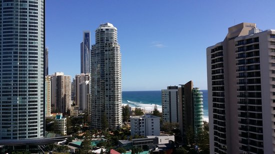Surfers Century Apartments: view from the hotel balcony