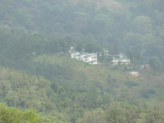 The Wind Munnar : hotel building from the valley