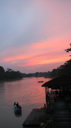 Kinabatangan Riverside Lodge: Sunset from the lodge