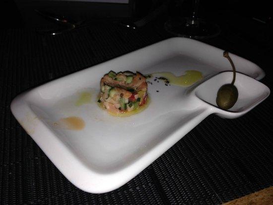 Cramim Resort & Spa by Isrotel Exclusive Collection : Тарелка для тартара с отделением для каперса