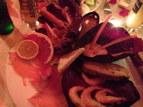 Assiette En Folie : Présentation superbe de saumon et gambas