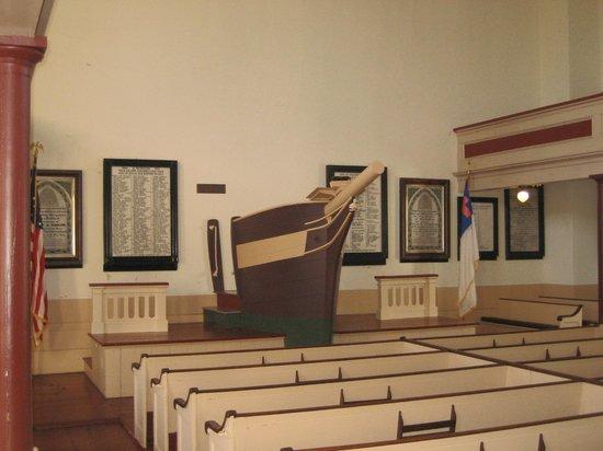 Seamen's Bethel: The famous pulpit.....