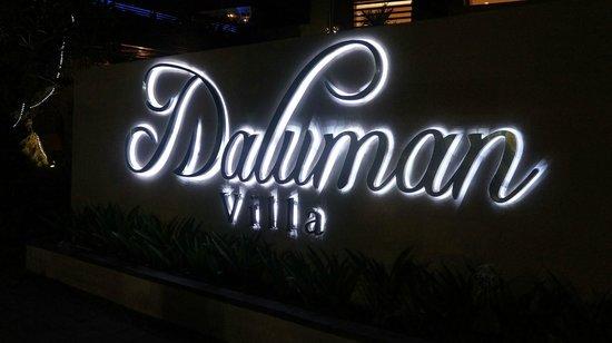 Daluman Villas: Entrance