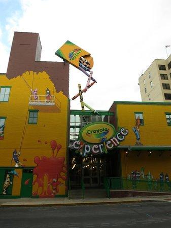 Crayola Experience : Rear entrance to Factory
