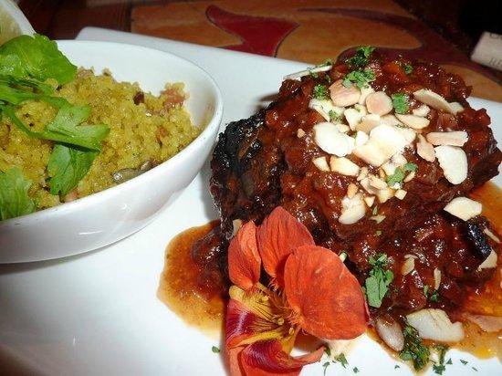 "La Plaza : ""Braised Moroccan Lamb Shank"""