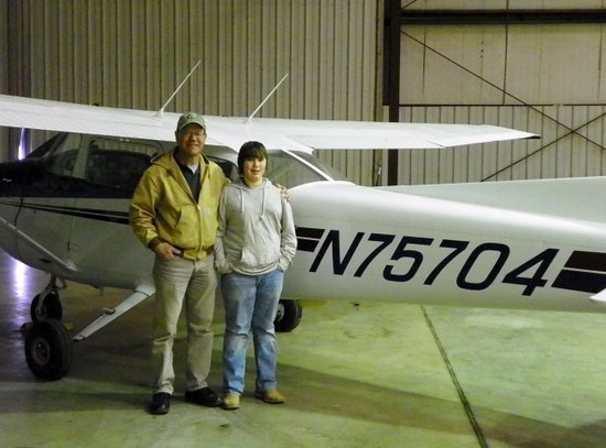 Coyote Flight Centers: One of our youngest students with his instructor