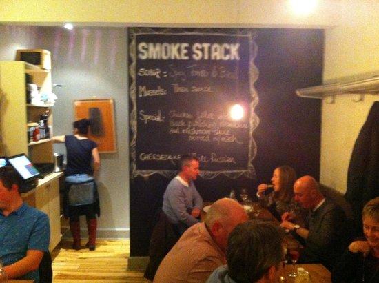 Smoke Stack: lavagna menù