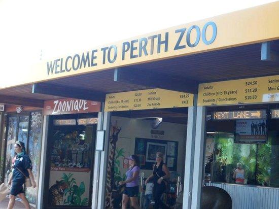 Perth Zoo: Entrada do Zôo