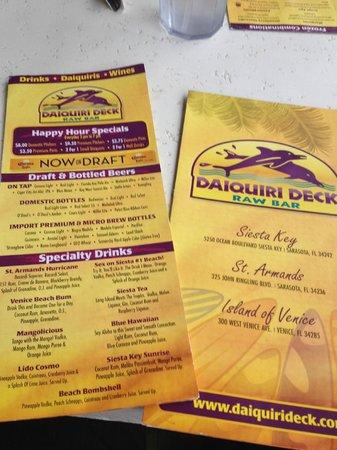 Daiquiri Deck Siesta Key: Drinks!