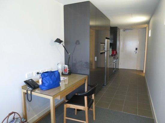 East Hotel: Looking into kitchen & front door