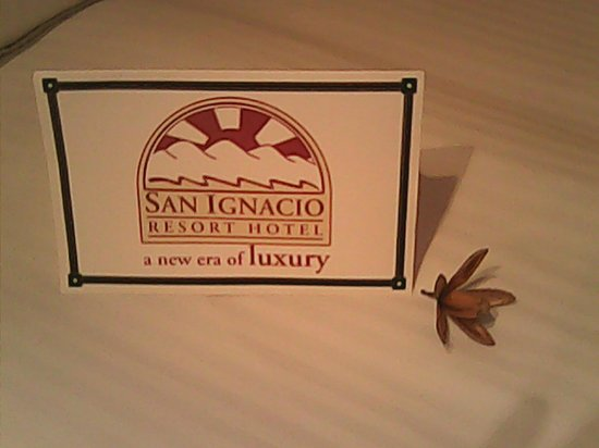 San Ignacio Resort Hotel: Warm welcome in the room